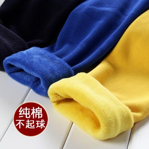 children winter plus thick velvet leggings warm pants