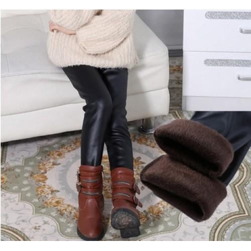 winter item girl pu leather legging warm legging three colors