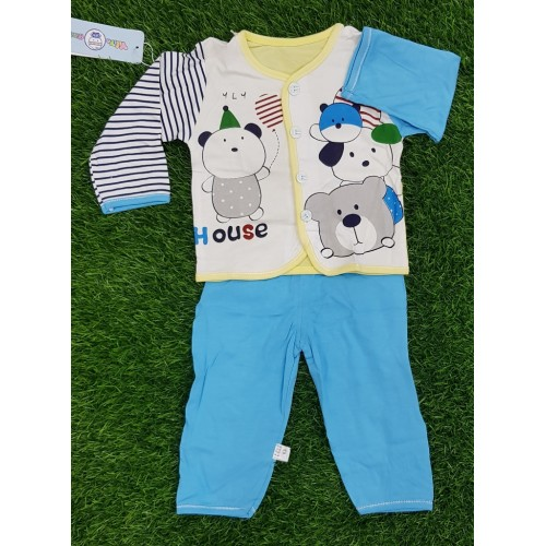 2 Piece Set Baby Dress Clothes Shirt Trouser Toddler Fashion Baby Outwear Cartoon Printed For Boy Girls