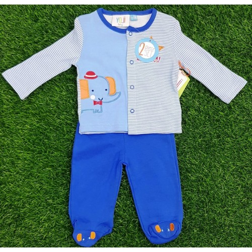 2 Piece Set Baby Dress Clothes Shirt Trouser Toddler Fashion Baby Outwear Cartoon Embroidered For Boy Girls