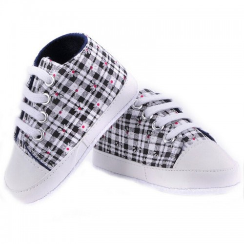 Black Baby Fashion Canvas Shoes Soft Prewalkers Casual Toddler Shoes