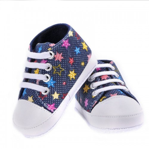 Blue Stars Baby Fashion Canvas Shoes Soft Prewalkers Casual Toddler Shoes