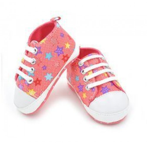 Rose Pink  Baby Fashion Canvas Shoes Soft Prewalkers Casual Toddler Shoes