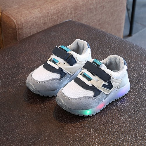 European Patch LED lighting baby girls boys shoes high quality glowing baby sneakers cool cute