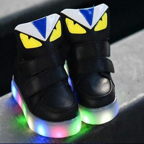 European fashion all season cool baby shoes high quality LED light cool baby kids glowing