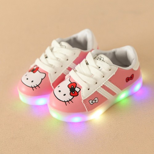 New cartoon animation baby casual shoes elegant cute Lovely noble baby sneakers fashion LED lighted