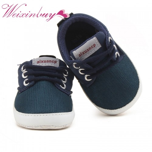 Spring Autumn Baby Boy Soft Sole Shoes Infant Canvas Newborn Baby Boy Shoes First Walkers Crib