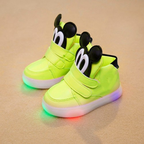 Spring Autumn baby casual shoes unisex LED fashion infant tennis lighted baby boots Elegant