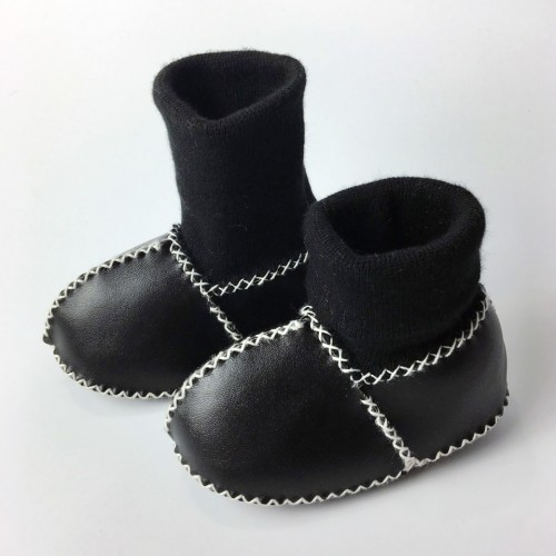 Winter Warm Shoes PU Suede Leather Newborn First Walkers Bebe Fringe Soft Soled Non slip Footwear