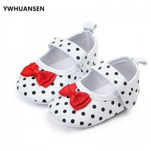 YWHUANSEN Lovely Princess Baby Girls First Walker Shoes Soft PU Leather Polka Dot Children s Footwear