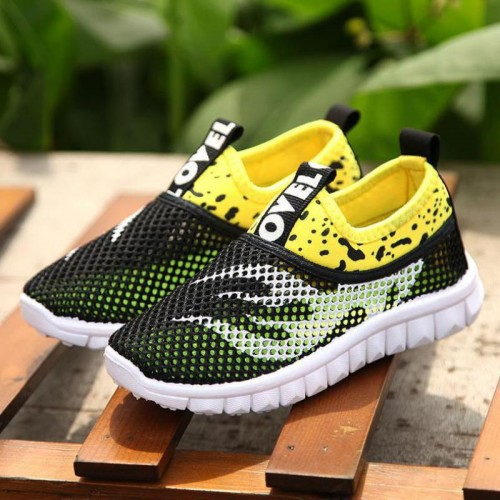 Boys Girls Running Shoes Kids Sneakers For Mesh Breathable Children Sports Shoes Shock Absorption Soft