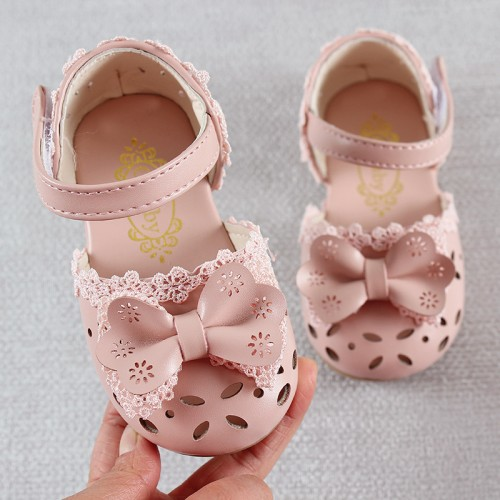 Newest Summer Kids Shoes Fashion Leathers Sweet Children Sandals For Girls Toddler Baby Breathable Hoolow