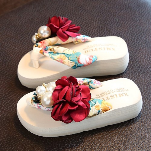 Slippers Children Floral Slippers Women Home Shoes Kids Fashion Casual Flip flops Sandals