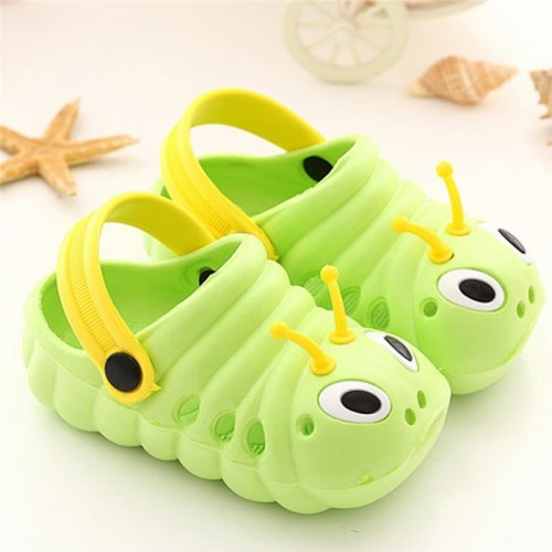 Toddler Baby Summer Cartoon Slippers Cute Caterpillar Boys Girls Non slip Beach Sandals Slipper Flip Kids