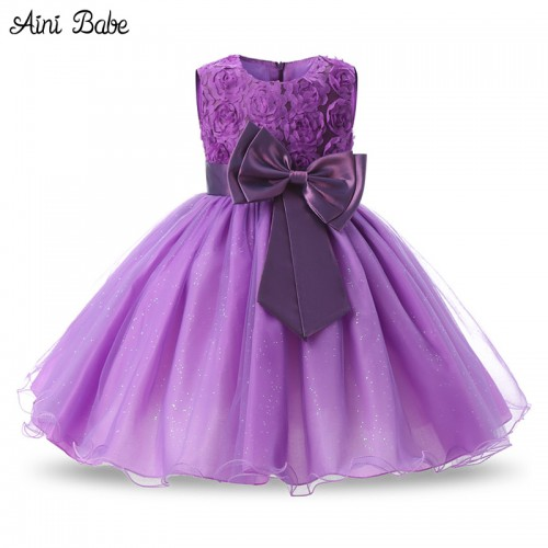 Aini Babe 1 Year Birthday Party Little Dress Baby Girl Christening Gowns  Kids Events Party Wear 645b8f758120