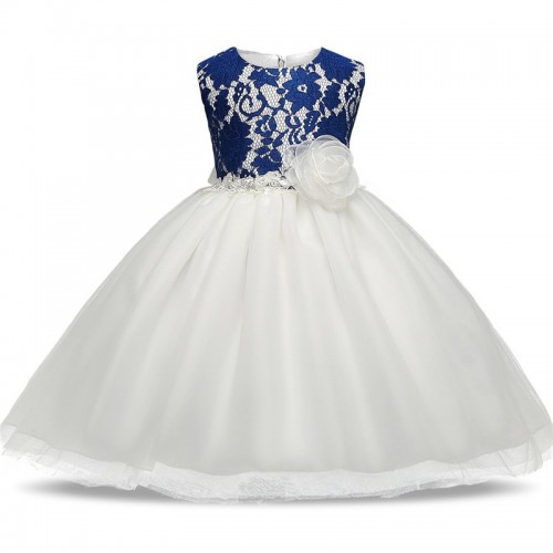 New Summer Newborn Baby Wedding Dress 1 Year Baby Girl Birthday Dress Princess Dress Toddler