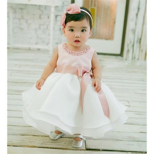 Noworodka Dziewczyna Sukienka Niemowl Chrzciny Suknia Sukienka Dla C reczki 1 2 Rok Birthday Party Odzie