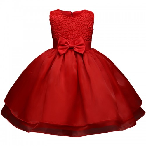 Red Baby Girl Summer Frocks Newborn Bebes Lace Infant Christening Gowns 1 Year Birthday Baby Girl
