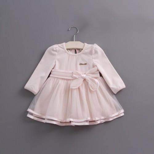 Retail herfst boog kant dress baby meisjes leuke baby baby lace dress baljurk meisje sundress