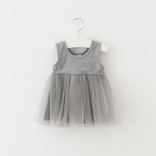 Sun Moon Kids 1 Year Birthday Dress Sleeveless Newborn Baby Girl Dress Casual Kids Dresses For