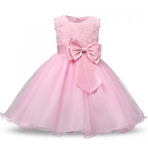 Vestido para os vestidos das meninas roupa do beb do beb primeiro Anivers rio de