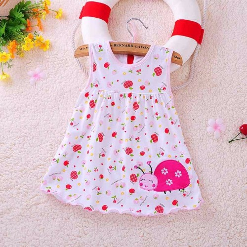 Fruity New Fashion Toddle Baby Girls Beach Style Floral Print Party Princess Dress