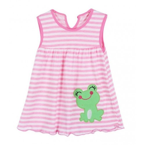 Pink Lining New Fashion Toddle Baby Girls Beach Style Printed Party Princess Dress