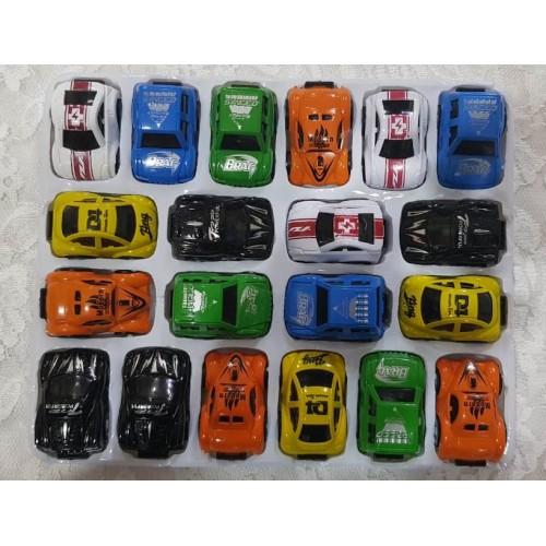 20Pcs/Set Childrens Cartoon PVC Pull Back Car Toy MIni Car Toy Home School Play