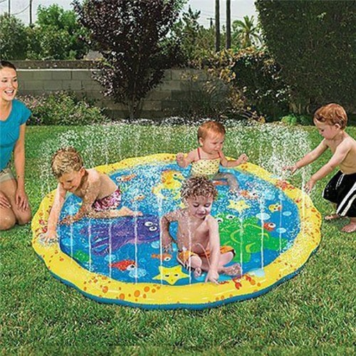 100cm Summer Children s Outdoor Garden Play Water Games Beach Mat Spray Water Lawn Sprinkler Cushion