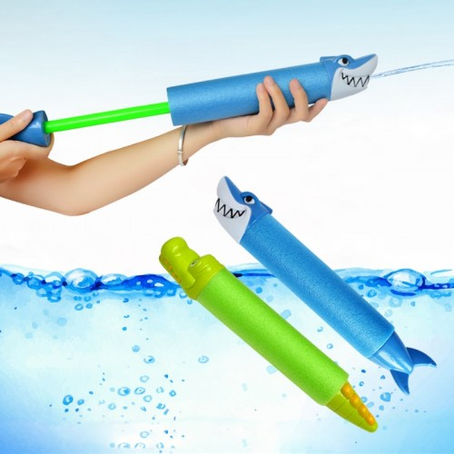 33cm Water Guns Kids Toys Pistol Blaster Outdoor Games Swimming Pool Shark Crocodile Squirter