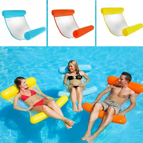Foldable Water Hammock Swimming Pool Inflatable Mat Toys Rafts Floating Bed for Kids adult Swimming