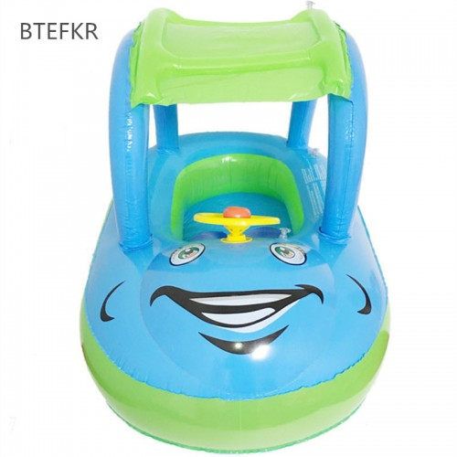 New Summer Bathing Newborns Float Boat Tube Car for Baby Swim Float Portable Inflatable