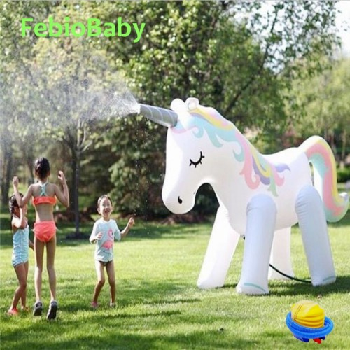 Summer Home PVC Animal Sprinkle Water Park Inflatable Outdoor Beach Toy Children Play Water Unicorn Spray