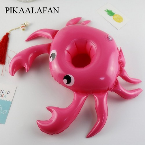 Swimming Pool Party Floating Inflatable Drink Cup Seat Crab Inflatable Water Coaster Inflatable Water Cup