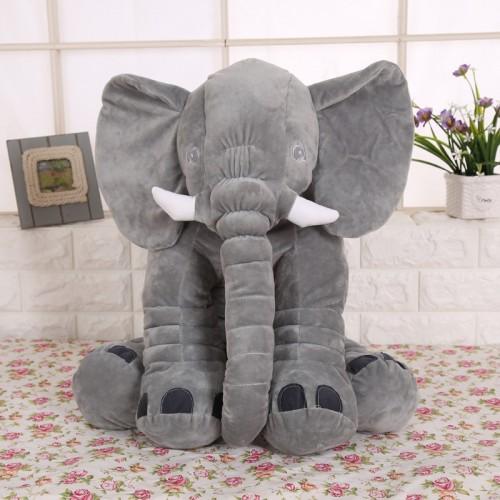 30cm High quality Plush Elephant Doll Toy Kids Sleeping Back Cushion Cute Stuffed Elephant Baby Accompany