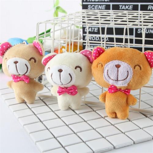 Cute Minil Soft Teddy Bear Handbag Charms For Girls Plush Key Ring Doll Backpacks Plush Keychain