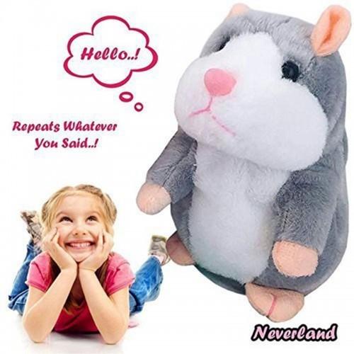Lovely Talking Little Hamster Toys For Children Speak Talking Sound Record Hamster Vibrating Nodded Mouse