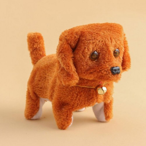 New Electronic Dog Toys Cute Animal Battery Plush Walking Barking Electronic Pets Electronic Dog Toy