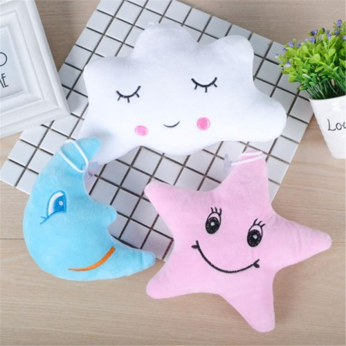 Star Moon Shaped Pillow Cloud Expression Toy Plush Filled Super Soft Sofa Chair Doll Pillow Pillow