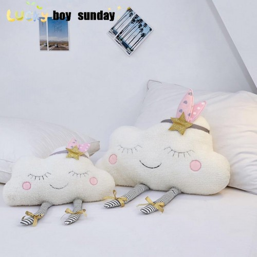 lucky Boy Sunday New Ins Cloud Plush Pillow Soft Cushion Kawaii Cloud Stuffed Plush Toys