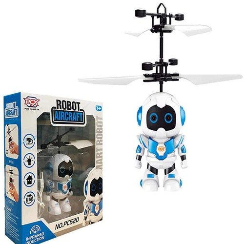 Drone Aircraft Model Cute Style LED Infrared Flying Jump RC  Robot Fairy Helicopter kids Toy