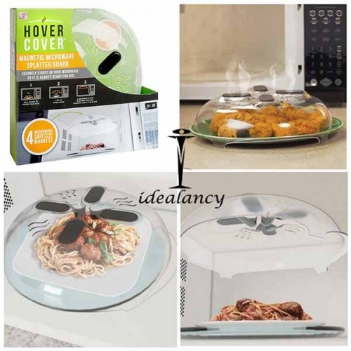 Magnetic Microwave Splatter Lid Food Lids, Home, Restaurant Microwave Suction Cup