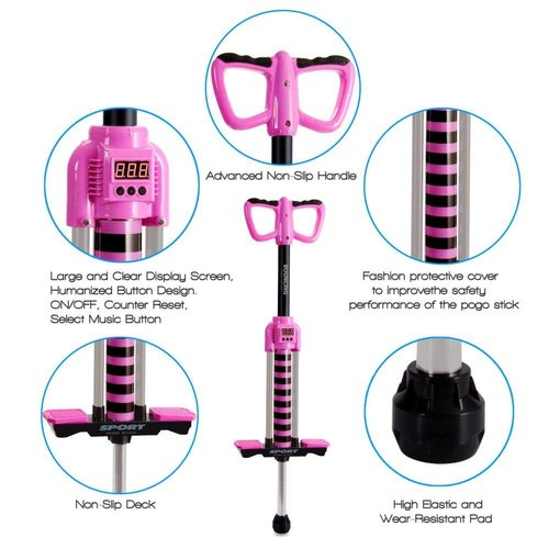 Kriti Jumping Pogo Stick With Smart Counting And Music Function