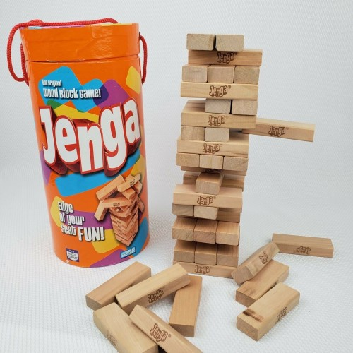 JENGA Layered Classic Edition Children's Board Blocks Building Game Toy