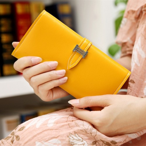 MINCH 12 Colors Fashion Luxury Wallet Women PU Leather Money Clutch Purse Envelop Cellphone Bag