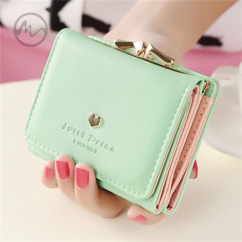 MINCH Women Lady Girl s Leather Clutch Short Wallet PU Card Holder Purse Handbag Bag