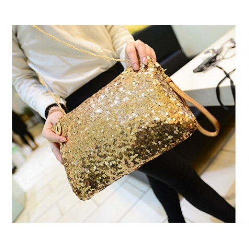 New Dazzling Glitter Sparkling Bling Sequins Evening Party purse Bag Handbag Women Clutch wallet