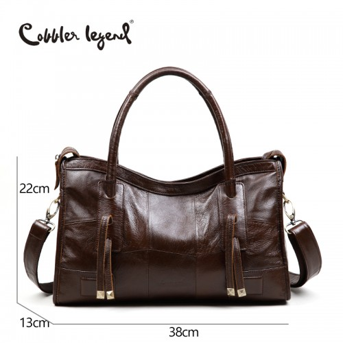 Cobbler Legend Original Genuine Leather Women Shoulder Bags New Leisure Trend Ladies Crossbody Bag For
