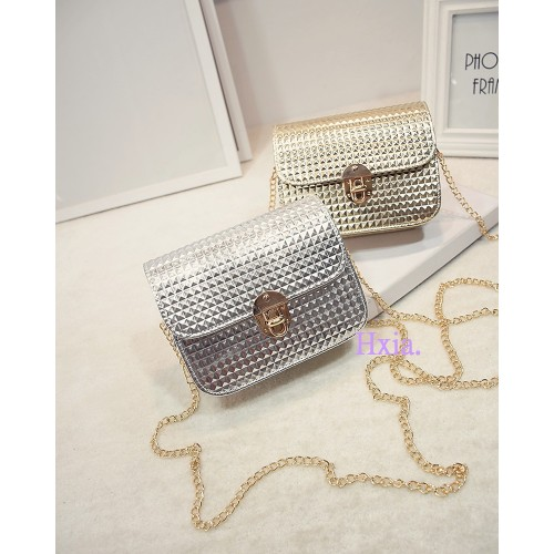 Free shipping new han edition flap trend grid handbags fashionable women messenger bag chain shoulder