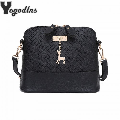 HOT SALE Women Messenger Bags Fashion Mini Bag With Deer Toy Shell Shape Bag Women